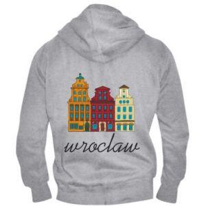 Men's zip up hoodie Wroclaw illustration