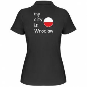 Damska koszulka polo My city is Wroclaw