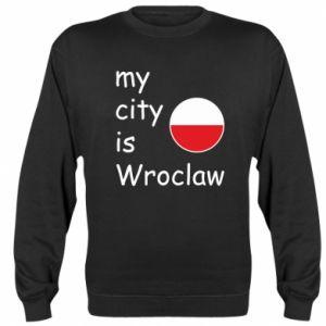 Bluza (raglan) My city is Wroclaw