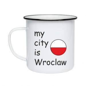 Kubek emaliowany My city is Wroclaw