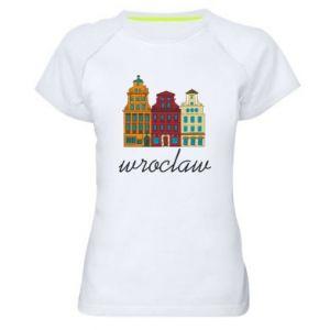 Damska koszulka sportowa Wroclaw illustration - PrintSalon