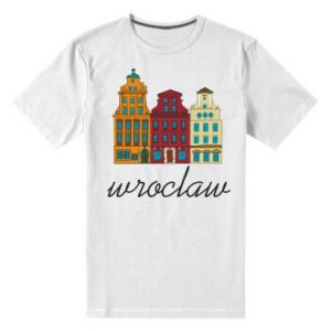 Men's premium t-shirt Wroclaw illustration