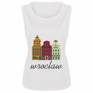 Damska koszulka Wroclaw illustration - PrintSalon