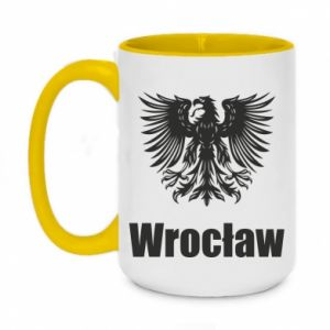 Two-toned mug 450ml Wroclaw