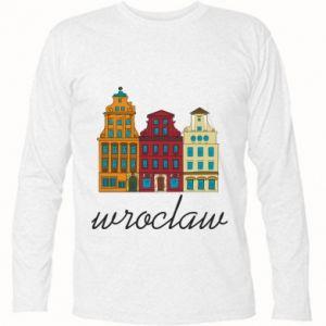 Koszulka z długim rękawem Wroclaw illustration - PrintSalon