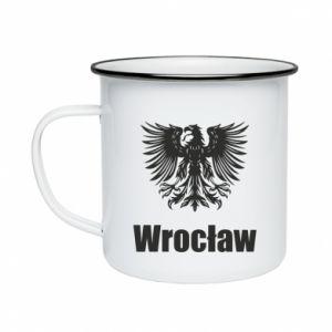 Enameled mug Wroclaw