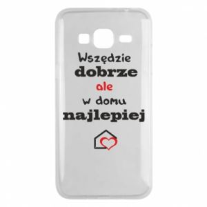 Phone case for Samsung J3 2016 Well everywhere but at home is best - PrintSalon
