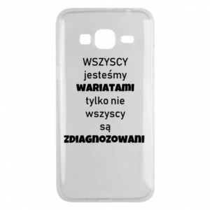 Phone case for Samsung J3 2016 We are all crazy... - PrintSalon