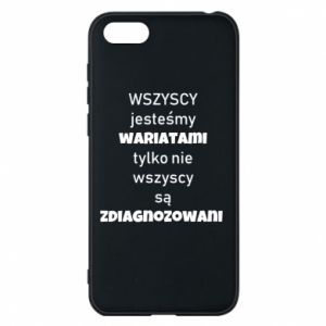 Phone case for Huawei Y5 2018 We are all crazy... - PrintSalon