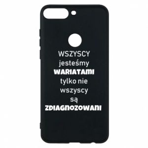 Phone case for Huawei Y7 Prime 2018 We are all crazy... - PrintSalon