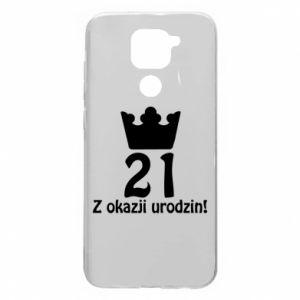 Xiaomi Redmi Note 9 / Redmi 10X case % print% Happy Birthday! 21 years
