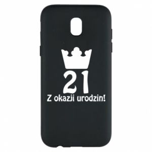 Phone case for Samsung J5 2017 Happy Birthday! 21 years