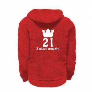 Kid's zipped hoodie % print% Happy Birthday! 21 years