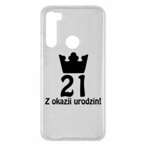 Xiaomi Redmi Note 8 Case Happy Birthday! 21 years