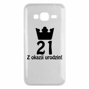 Phone case for Samsung J3 2016 Happy Birthday! 21 years