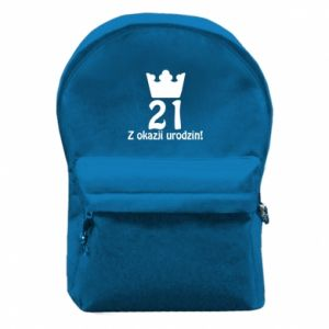 Backpack with front pocket Happy Birthday! 21 years