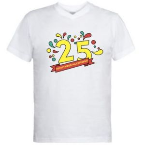 Męska koszulka V-neck Wszystkiego najlepszego!