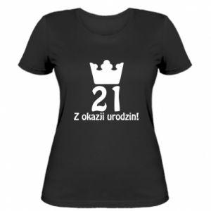 Damska koszulka Wszystkiego najlepszego! 21 lat