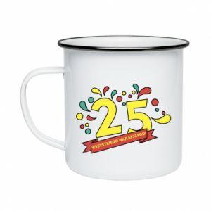 Enameled mug Happy Birthday!