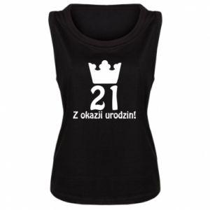 Damska koszulka bez rękawów Wszystkiego najlepszego! 21 lat