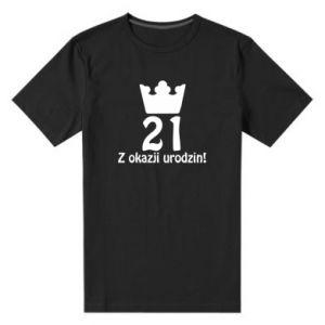 Męska premium koszulka Wszystkiego najlepszego! 21 lat