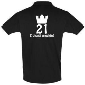 Koszulka Polo Wszystkiego najlepszego! 21 lat