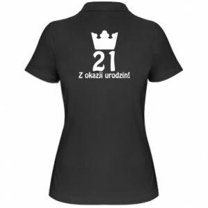 Damska koszulka polo Wszystkiego najlepszego! 21 lat