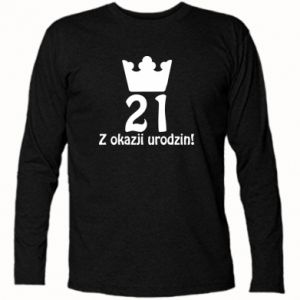 Koszulka z długim rękawem Wszystkiego najlepszego! 21 lat