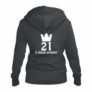Damska bluza na zamek Wszystkiego najlepszego! 21 lat