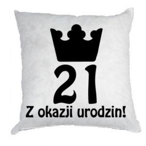 Poduszka Wszystkiego najlepszego! 21 lat