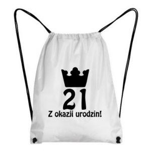 Plecak-worek Wszystkiego najlepszego! 21 lat