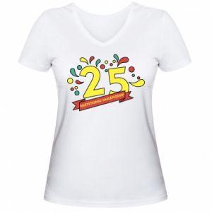 Damska koszulka V-neck Wszystkiego najlepszego!