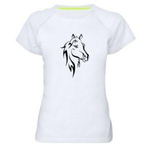 Damska koszulka sportowa Nadruk Koń - PrintSalon
