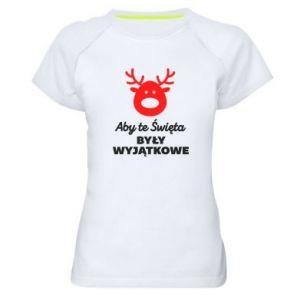 Koszulka sportowa damska Wyjątkowe Swięta