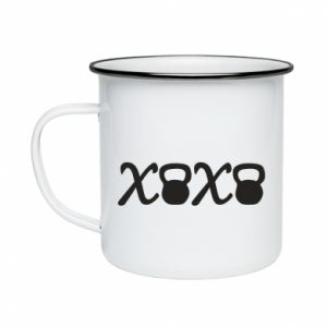 Kubek emaliowany Xo-xo fit