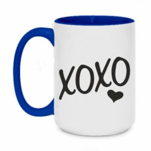 Two-toned mug 450ml Xo-Xo