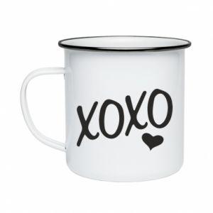 Enameled mug Xo-Xo