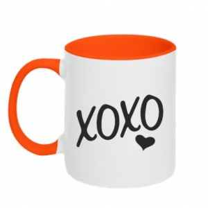Two-toned mug Xo-Xo