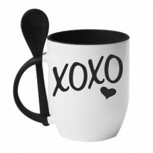 Kubek z ceramiczną łyżeczką Xo-Xo