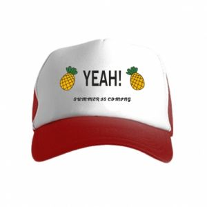 Czapka trucker dziecięca Yeah summer is coming pineapple