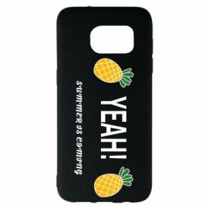 Etui na Samsung S7 EDGE Yeah summer is coming pineapple