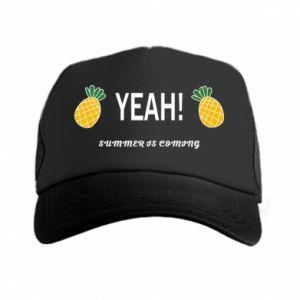 Czapka trucker Yeah summer is coming pineapple