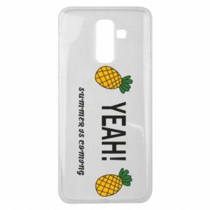 Etui na Samsung J8 2018 Yeah summer is coming pineapple
