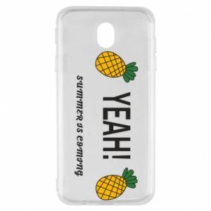 Etui na Samsung J7 2017 Yeah summer is coming pineapple