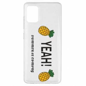 Etui na Samsung A51 Yeah summer is coming pineapple