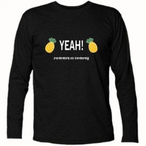 Koszulka z długim rękawem Yeah summer is coming pineapple