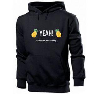 Men's hoodie Yeah summer is coming pineapple