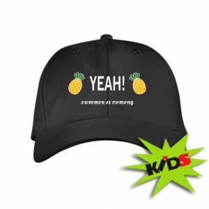 Dziecięca czapeczka z daszkiem Yeah summer is coming pineapple
