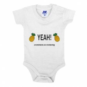 Body dla dzieci Yeah summer is coming pineapple
