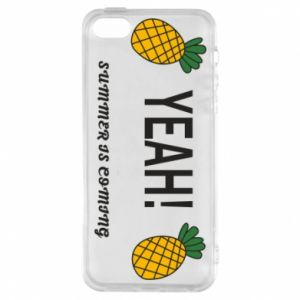 Etui na iPhone 5/5S/SE Yeah summer is coming pineapple